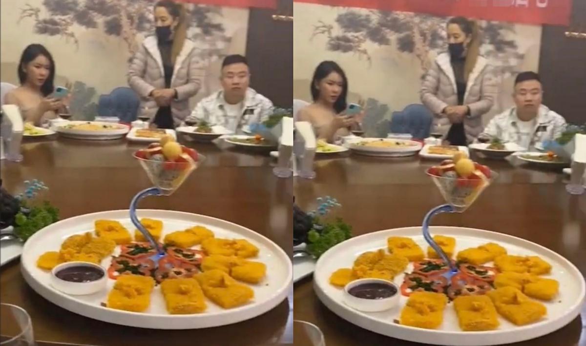 34歲龔玥菲罕露面, 和眾多男性共進餐隻玩手機, 包間拉橫幅遭群嘲-圖2