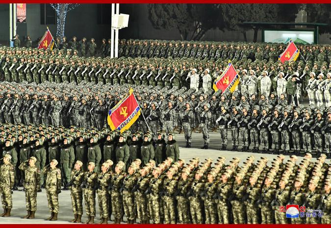 朝中社: 紀念朝鮮勞動黨八大閱兵式在平壤舉行, 金正恩出席-圖3