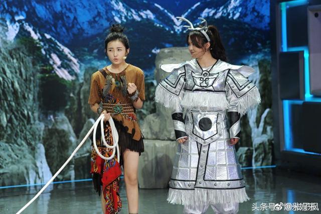 《赞》张子枫快乐大本营西游记扮演小妖超萌超可爱, 玩得很开心!