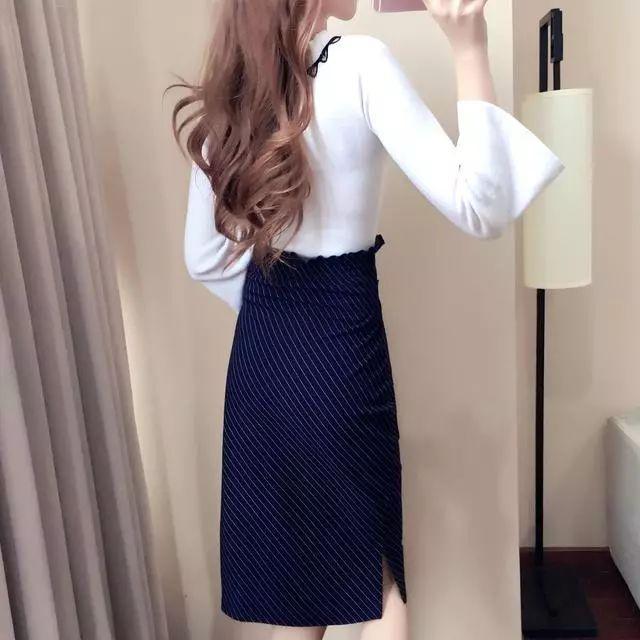 会穿的女人不再穿打底衫或者针织衫, 因为今年流行打底裙, 真洋气 4