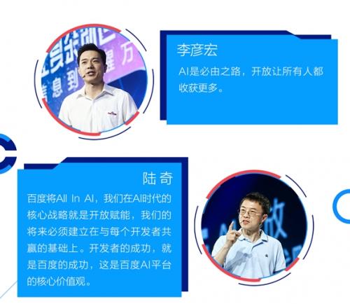 首届百度AI开发者大会汇总: 人工智能成果的集体亮相
