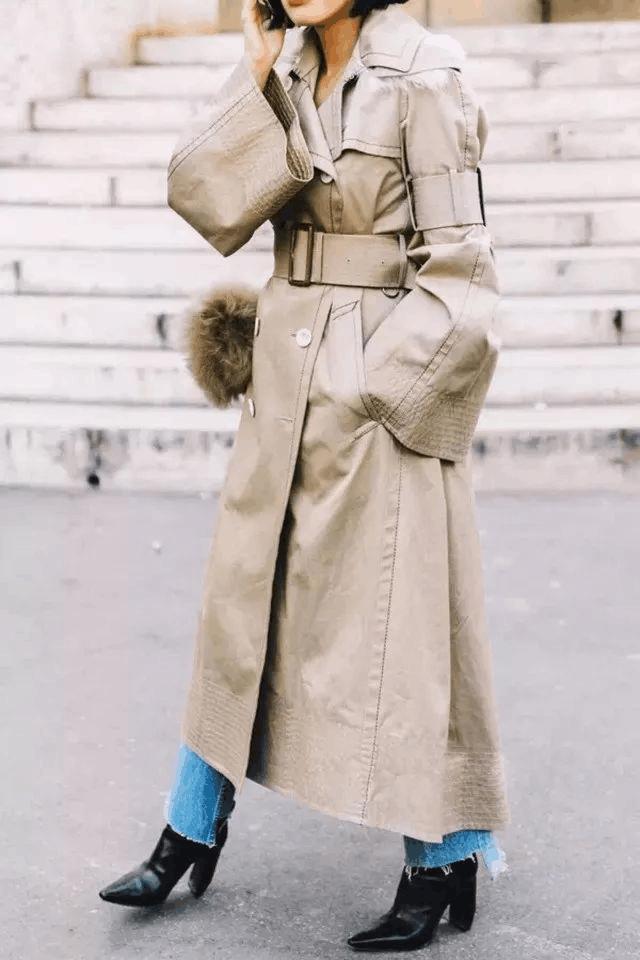 谁说个子矮不能穿长大衣? 周冬雨反而能穿出强大气场