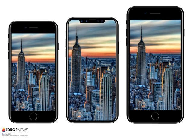 新ipone最新! 苹果砍掉7s直接叫iPhone 8 全面屏机叫iPhoneX