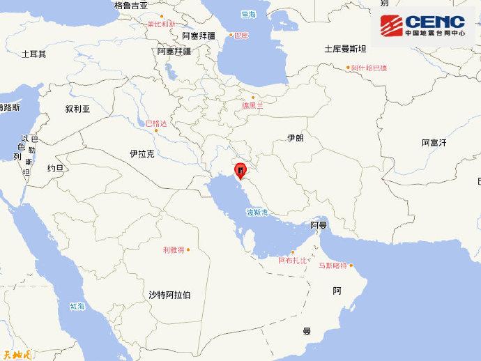 伊朗發生5.9級地震 震源深度10公裡-圖1